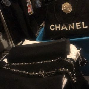 CHANEL Jewelry - Chanel pearl long chain necklace